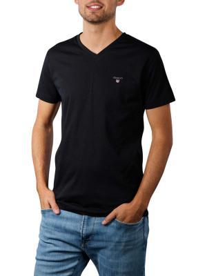 Gant Original Slim T-Shirt V-Neck black
