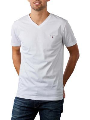 Gant Original Slim T-Shirt V-Neck white