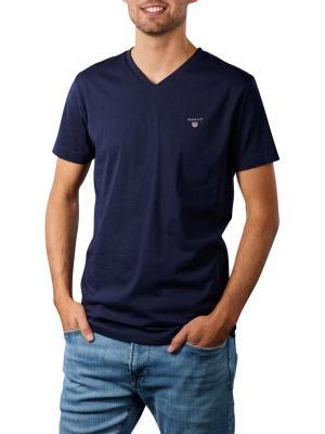Gant Original Slim T-Shirt V-Neck evening blue