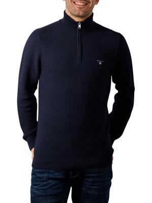Gant Triangle Texture Halfzip Pullover enening blue