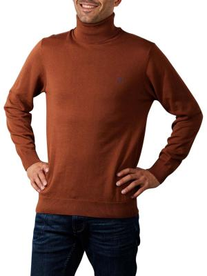 Gant Classic Cotton Pullover Turtle Neck chocolate brown