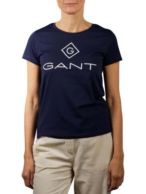 Gant Lock Up T-Shirt evening blue