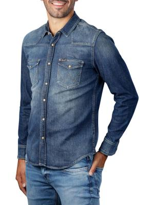 Wrangler Western Denim Shirt mid indigo