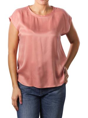 Yaya Cupro Blend Fabric Top rose dawn