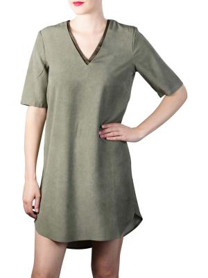 Yaya Lyocell Midi Dress dark olive