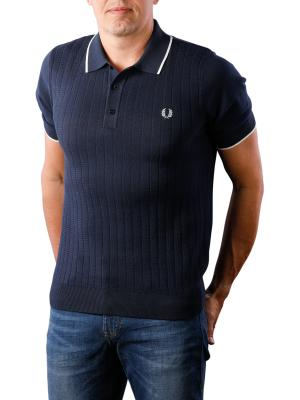 Fred Perry Textured Front Knitted Shirt deep carbon