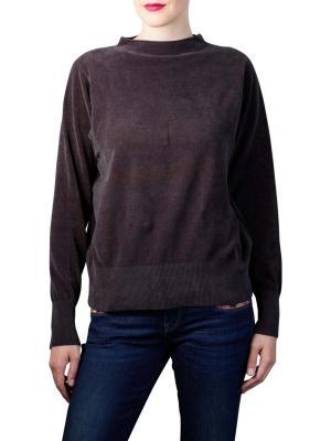 Yaya Soft Knit  Mock Neck Pullover antracite melange
