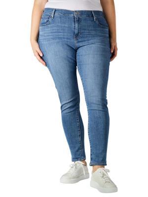 Levi's 721 Jeans Skinny High Plus Size lapis air