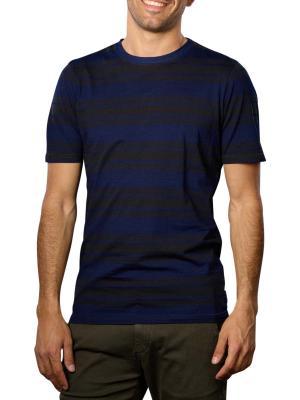 Scotch & Soda Striped T-Shirt Crew Neck indigo