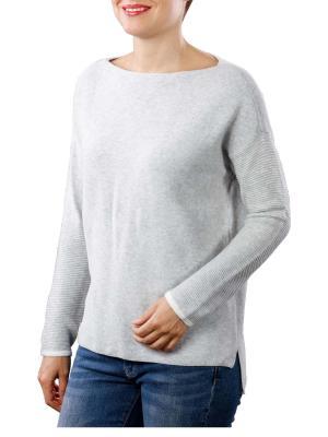 Yaya Basic Knit Sweater light grey melange