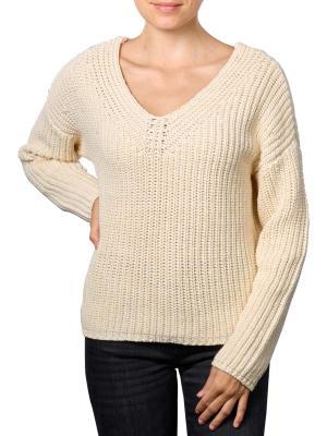 Set Pullover V-Neck white/jellow