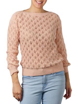 Yaya Pointelle Stitch Sweater softly rose