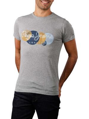 Pepe Sacha T-Shirt Printed Round Neck grey ma