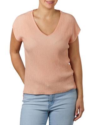 Yaya Rib Sweater Cap Sleeve apricot