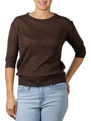 Yaya Cotton Linen Sweater turkish coffee