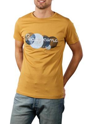 Pepe Sacha T-Shirt Printed Round Neck tobacco
