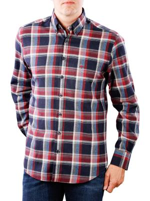 Fynch-Hatton Shirt Flannel Fond Check navy