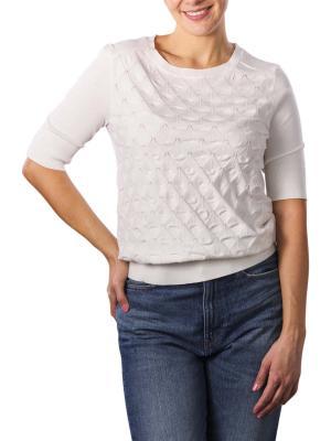 Yaya Mixed Textured Sweater wool white
