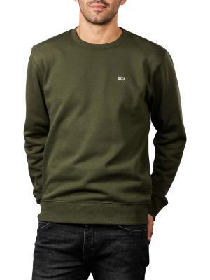 Tommy Jeans  Fleece Pullover Crew Neck dark olive