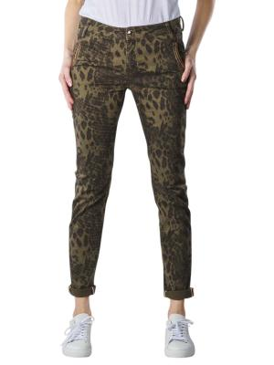 Mos Mosh Etta Jeans Regular Animal print army