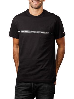 Tommy Jeans Tape T-Shirt Crew Neck black