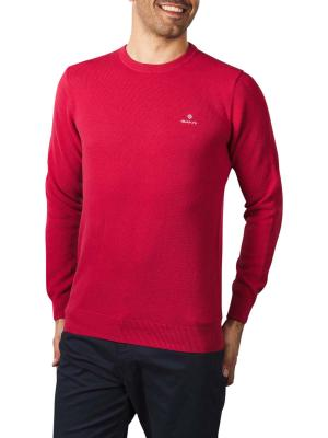 Gant Cotton Pique C-Neck cardinal red