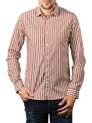 Scotch & Soda Striped Shirt Regular red