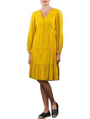 Set Volant Dress Long yellow sun