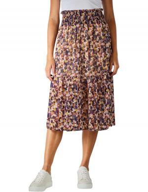 Set Longskirt Minimalprint rose/violett