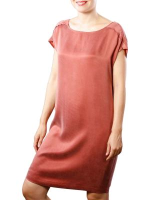 Yaya Dress Cupro W Strap wooden red