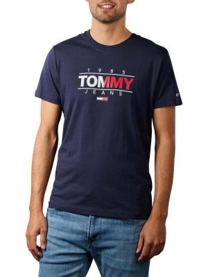 Tommy Jeans Graphic T-Shirt Crew Neck navy