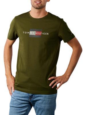 Tommy Hilfiger Lines T-Shirt olivewood