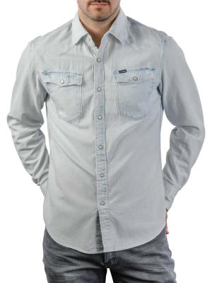 G-Star 3301 Slim Shirt Denim beach faded larimar destroyed
