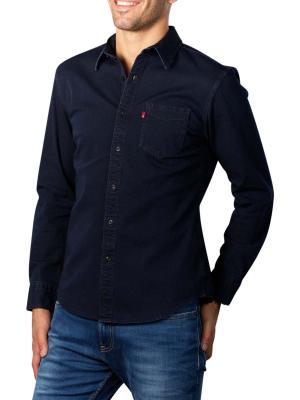Levi's Sunset Slim Shirt black indigo stretch