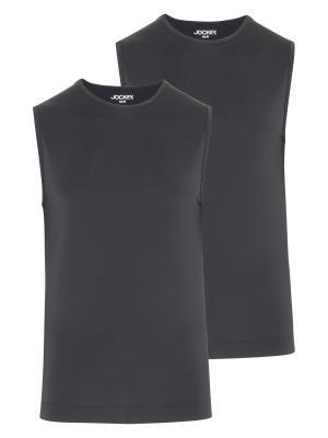 Jockey 2-Pack Microfiber Air Athletic Shirt black
