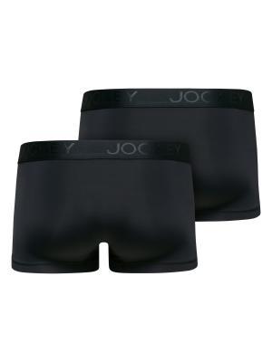 Jockey 2-Pack Microfiber Air Short Trunk black