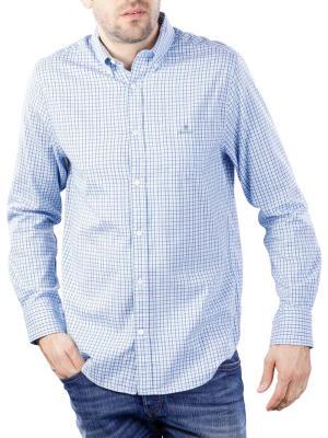 Gant WB Oxford Check Reg BD Shirt capri blue