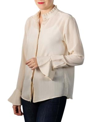 Yaya Blouse With Ruffled Neck pale peach dessin