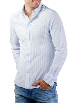 Gant TP Pique Stripe Slim BD Shirt capri blue