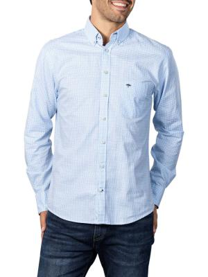 Fynch-Hatton All Season Oxford Shirt light blue check