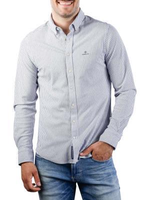 Gant TP Pique Stripe Slim BD Shirt persian blue
