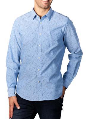 Pepe Jeans Egleton Printed Ofxord Shirt  blue