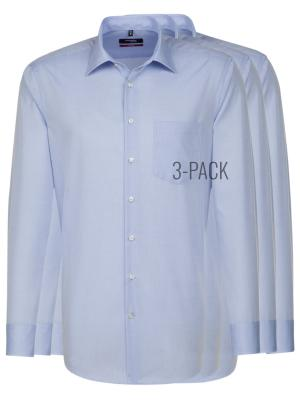 Seidensticker 3-Pack Shirt Modern Fit Kent light blue