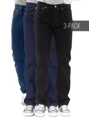 Levi's 501 Jeans darkstone/rinse/black Trio