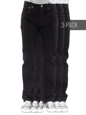 Levi's 501 Jeans black 3-Pack