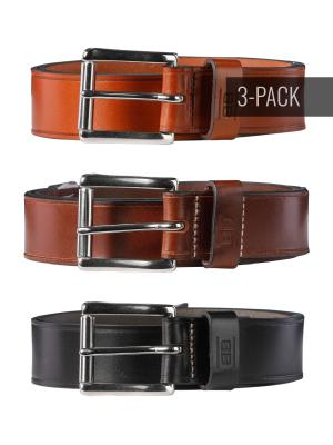 Pat black/brown/cognac 40mm Trio by BASIC BELTS