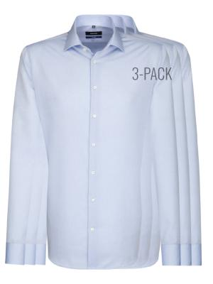 Seidensticker 3-Pack Tailored Fit Kent Bügelfrei light blue