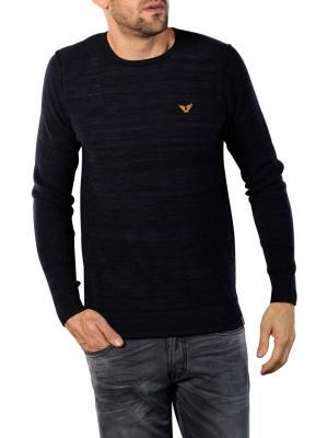 PME Legend Crewneck Cotton Mouline Sweater night sky