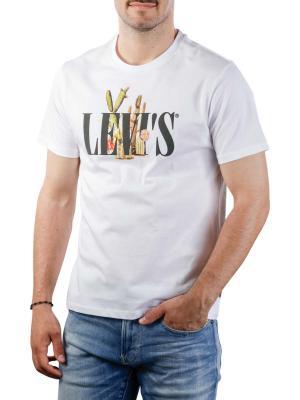 Levi's Graphic Crewneck Tee ssnl serif white