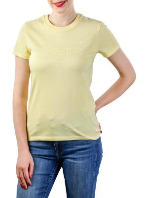 Levi's Logo Perfect Tee Shirt batwing outline lemon meringue